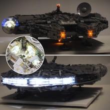 hot deal buy led light kit for lego 75192 compatible 05132 star war falcon millennium building blocks model toys (not include blocks set)