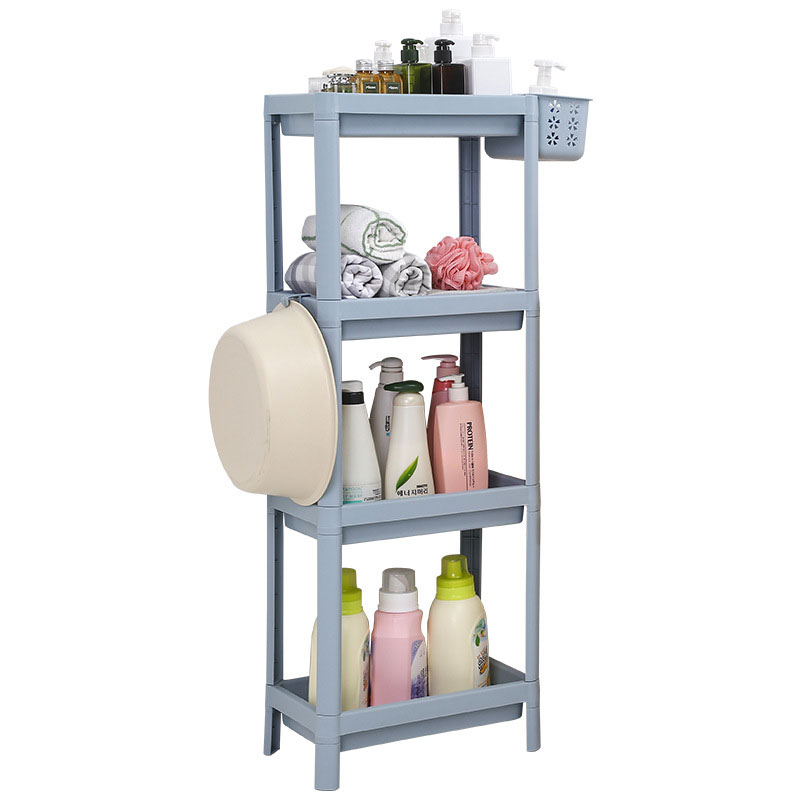 Actionclub Movable Plastic Multi-stationery Storage Box Bathroom Table Shelf Wash Storage Rack Kitchen Storage Holders Rack