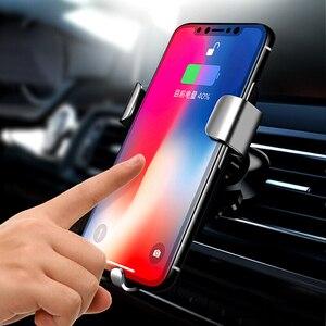 Image 3 - Biaze Car Air Vent Mount Qi Caricatore Senza Fili Per iPhone XS Max X XR 8 Veloce di Ricarica Supporto Del Telefono Dellautomobile per la Nota di Samsung 9 S9 S8