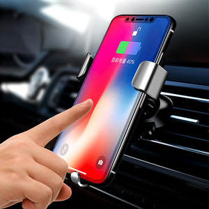 Image 3 - Biaze Car Air Vent Mount Qi Wireless Charger For iPhone XS Max X XR 8 Fast Charging Car Phone Holder For Samsung Note 9 S9 S8