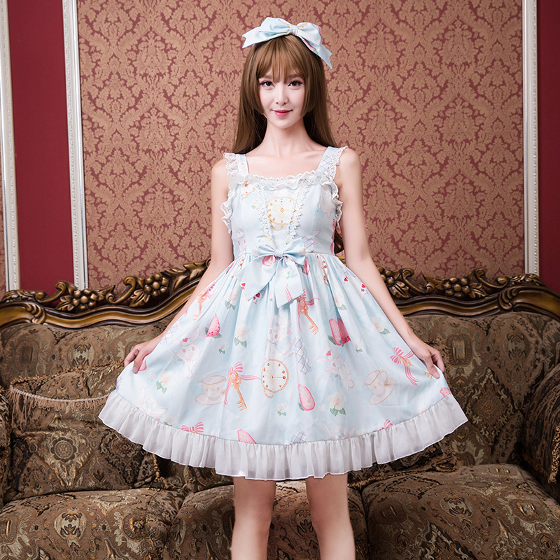 Princess sweet lolita dress Japanese lovable hare dresses summer casual fashion student sprout a small fresh