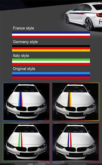 Us 4 38 Car Styling Auto Racing Stripes Sports Tricolor Pvc Stickers For Bmw E46 E90 E39 F30 F10 E36 E60 X5 E53 F20 Accessories 100x15cm In Car