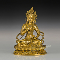 ATLIE Buddhist Vajra Sattva Copper Figurine Statue Classical Famous India Religious Brass Sculpture for Decoration Gift