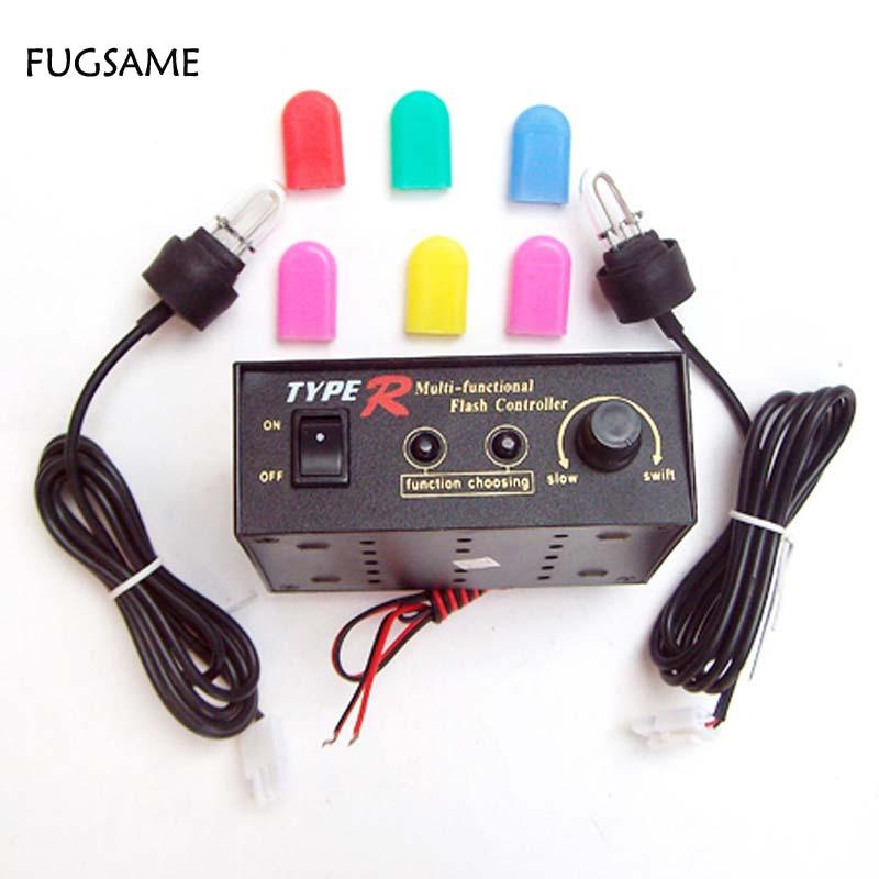 FUGSAME Jedna sada Typ R 8 Funkce nastavitelná Varování Stroboskopické světlo (velká trubice U) 30W / 12V Vícebarevný kryt 704-2