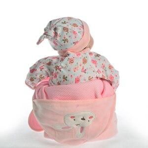 Image 5 - Muñeca de juguete Reborn de 17 pulgadas para niños, juguete de muñeca realista de juguete, de silicona suave, cuerpo de tela Reborn renacido