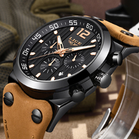 2019 New LIGE Watch Top Brand Luxury Men's Casual Leather Watch Men Military Waterproof Quartz Sport Watch Relogio Masculino