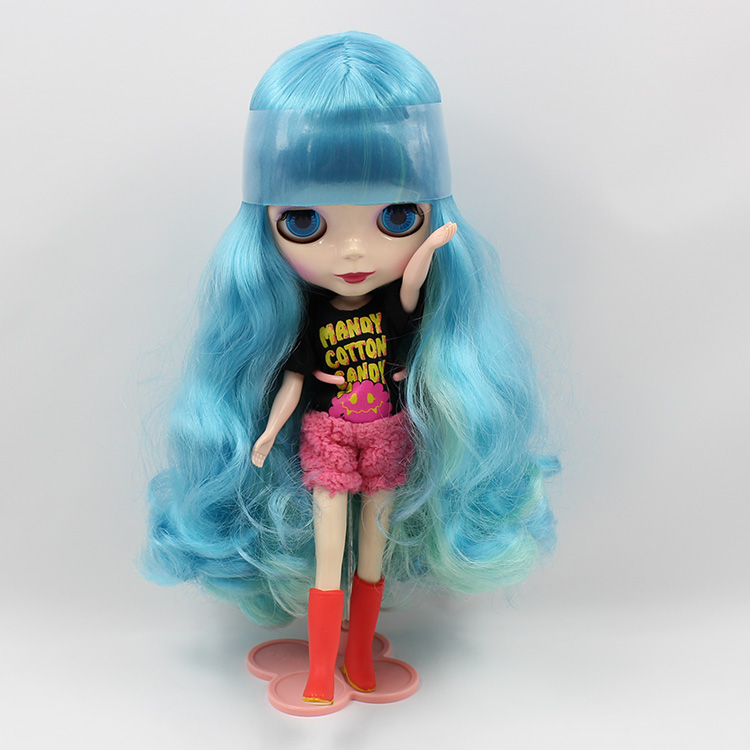 Free Shipping Nude Blyth Doll Series No.280bl400/6005 For Blue Mix Green Hair With Bangs White Skin Factory Blyth Delicious In Taste Dolls & Stuffed Toys