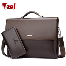 2017 Hot sell men bag men's briefcase handbag luxury Designer business male bag pu Leather casual Messenger bags vintage laptop