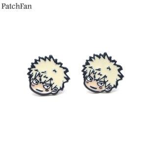 Patchfan My Hero academic Мультяшные сережки с эмалью очаровательные креативные вечерние женские Сувенирные ювелирные изделия A1320
