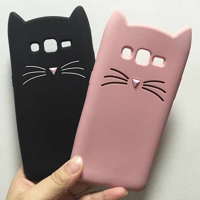 coque silicone chat samsung j3
