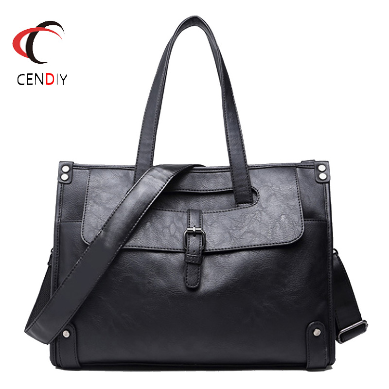 Luxury Brand Men Messenger Bag Vintage Crazy Horse Leather Shoulder Bags For Men Crossbody Bag Briefcase Laptop Handbag 2019