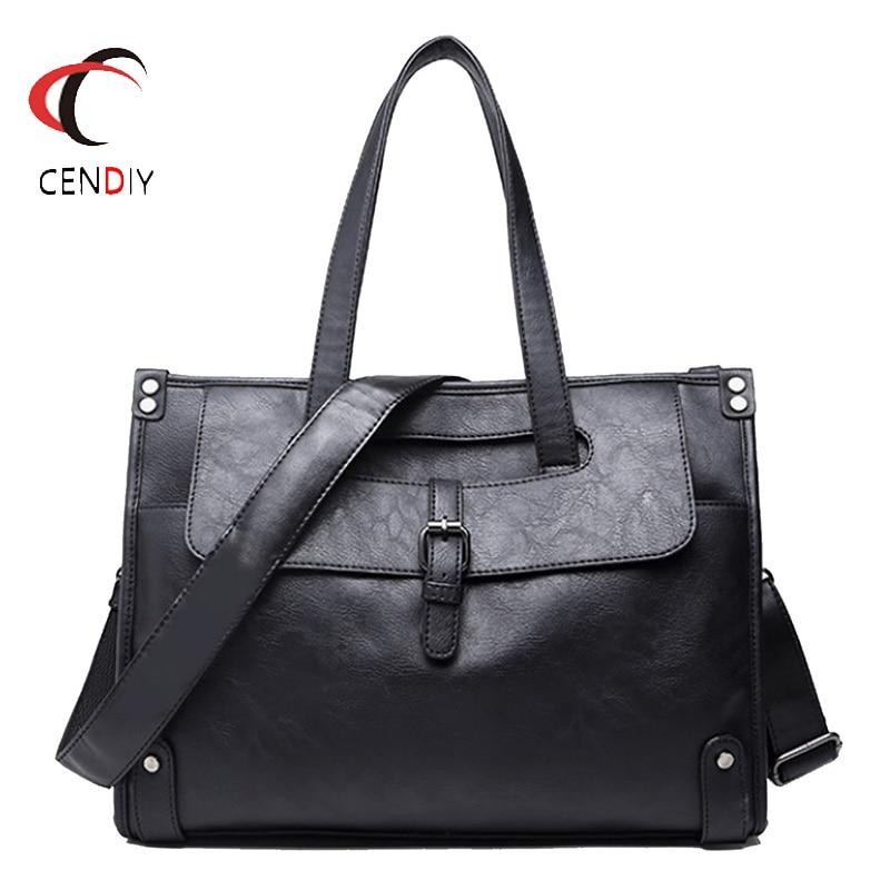 Luxury Brand Men Messenger Bag Vintage Crazy Horse Leather Shoulder Bags For Men Crossbody Bag Briefcase Laptop Handbag 2019