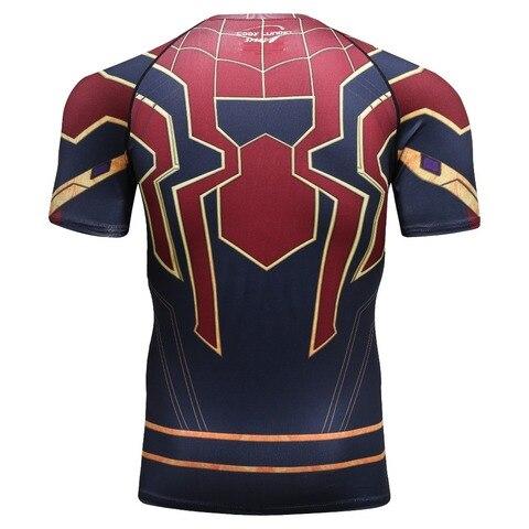new 3D Iron Spiderman T-shirt Men Marvel Superhero Men T-Shirt Compression  Short Sleeve Brand Fitness Tops & Tees Karachi