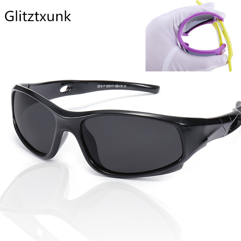 Glitztxunk Children Sunglasses Polarized Boys Girls Kids Baby Sports Safety Coating SunGlasses Goggles EyewearUV400