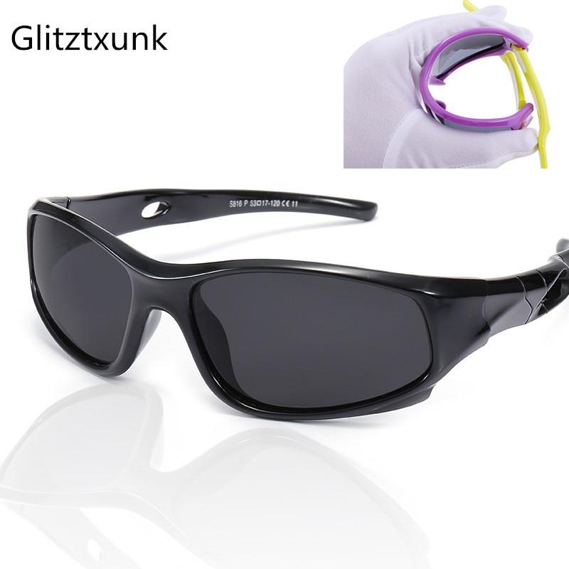 Glitztxunk Children Sunglasses Polarized Boys Girls Kids Baby Sports Sunglasses Safety Coating SunGlasses Goggles EyewearUV400