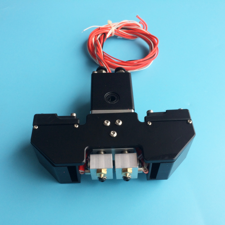 UM+ Ultimaker 3D printer accessories  cross slider Chimera 2-colors outet hotend print head full kit Fast ship horizon elephant ultimaker original ultimaker 2 cyclops multi color hotend kit hot end 2 in 1 out switching hotend 12v 24v 3d pr