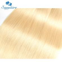 Sapphire Brazilian Straight Hair Bundles 613 Blonde Human Hair Weave 3PCS 613 Blonde Straight Human Hair Bundles For Hair Salon