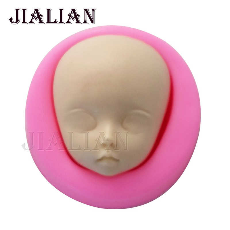 3D Baby Face Girl Gum Paste Fondant Silicone Mold Cake Decorating Clay Resin Soap Candy Fimo Moulds ChocolateTools T0788