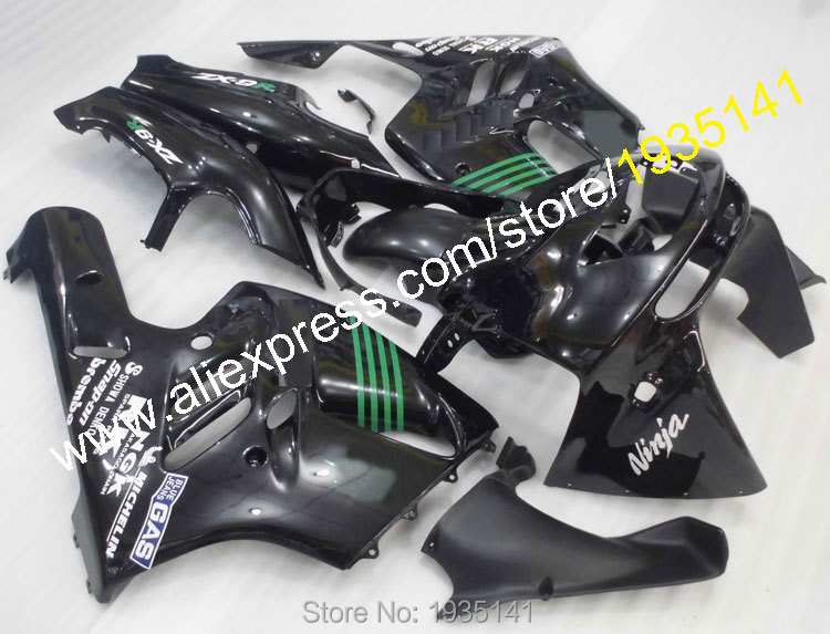 Hot Sales,Fit For Kawasaki NINJA ZX9R 94 95 96 97 ABS Body Kit ZX-9R ZX 9R 9 R 1994 1995 1996 1997 Black Motorcycle Fairing Kit