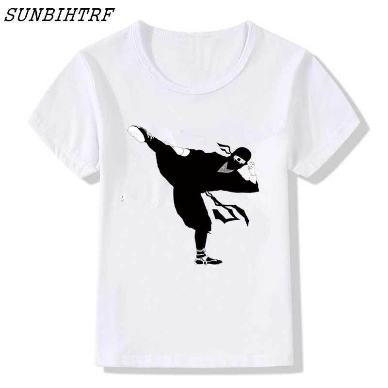 Sunny 2018 Cartoon Children's Japan Samurai Warrior Anime Funny T-shirts Summer Boy And Girl Tops Tee Kids Skateboard Tops Baby Shirt