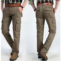 Fashion Man CARGO PANTS Tooling Straight Cotton Loose Long Pants Men Trousers Overalls Hosen New Plus Pantalones