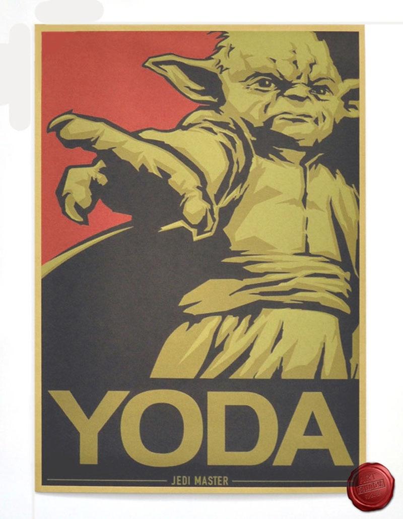 Vintage Star Wars Poster Senior statesman Retro art Wall home ...