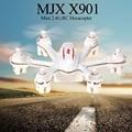 Original MJX X901 Mini Nano 2.4G 6 Axis RC Quadcopter RTF blanco Y Negro Mini Drone Con Luz LED Helicóptero de Control Remoto