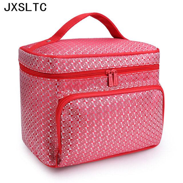 High Quality Portable Foldable Large Capacity Hand Ladies Cosmetic