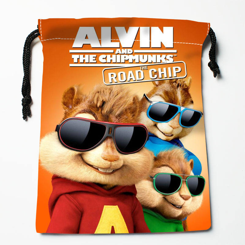 High Quality Custom Alvin Printing Storage Bag Drawstring Bag Gift Satin Bags 27x35cm Compression Type Bags