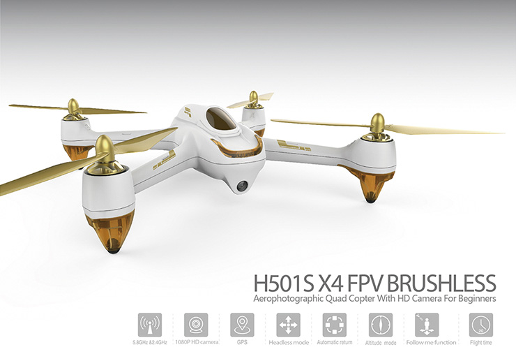 Hubsan H501S X4 5.8G FPV GPS Brushless Follow Me RC Quadcopter With HD 1080P Camera RTF (low-equipped version)