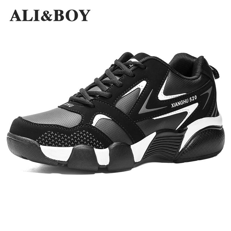 2017 New Arrival Men Winter Thermal Sport Shoes Brands Running Sneakers Black Fur Sport Trainers Leather Sneakers Walking Shoes