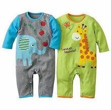 New Infant font b Baby b font Girl Boys Spring font b Clothes b font Cartoon