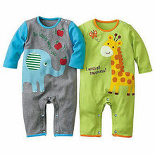 New Infant Baby Girl Boys Spring Clothes Cartoon Romper Outfit Jumpsuit Sunsuit Set