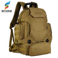 Caliente al aire libre 2 Set mochilas tácticas militares bolsas de Camping bolsa de Montañismo mochila de senderismo para hombre Mochila De Viaje + Paquete de cintura