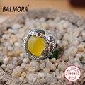Hot 100% real pure 925 sterling silver jóias calcedônia anéis românticos para mulheres amante da moda melhor presente de alta qualidade MN20654