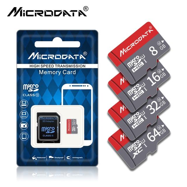 חדש חם גרסה מיקרו SD כרטיס TF כרטיס 4 GB 8 GB 16 GB 32 GB 64 GB 128 GB כיתת 10 כרטיס זיכרון usb micosd כרטיס עבור משלוח מתאם מתנה