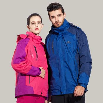 Zimowe kurtki narciarskie mężczyźni odkryte termalne wodoodporna Snowboard kurtki śnieg narciarstwo wspinaczka ubrania tanie i dobre opinie sceamout Poliester COTTON Wiatroszczelna Stałe Skręcić w dół kołnierz Pasuje prawda na wymiar weź swój normalny rozmiar