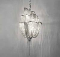 Новое поступление французский Дизайн люстра Винтаж Алюминий цепи освещения блеск для ресторан отеля Книги по искусству Studio Спальня лампы