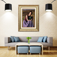 Artcozy Golden Frame Oil Painting Waterproof Canvas Printing
