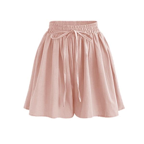 Summer Women Shorts High Waist Loose Chiffon Shorts Female Slacks Large Size Shorts 8001 6