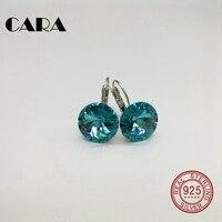 2018 summer New 5 colors Ladies luxury fashion earrings 925 sterling silver hoop earrings for women jewelry gift box CARA0105