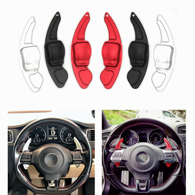 Car Accesories Steering wheel shift paddle For VW Tiguan Golf 6 MK5 MK6 Jetta GTI R20 R36 CC Scirocco Shifter ExtensionCar Accesories Steering wheel shift paddle For VW Tiguan Golf 6 MK5 MK6 Jetta GTI R20 R36 CC Scirocco Shifter Extension