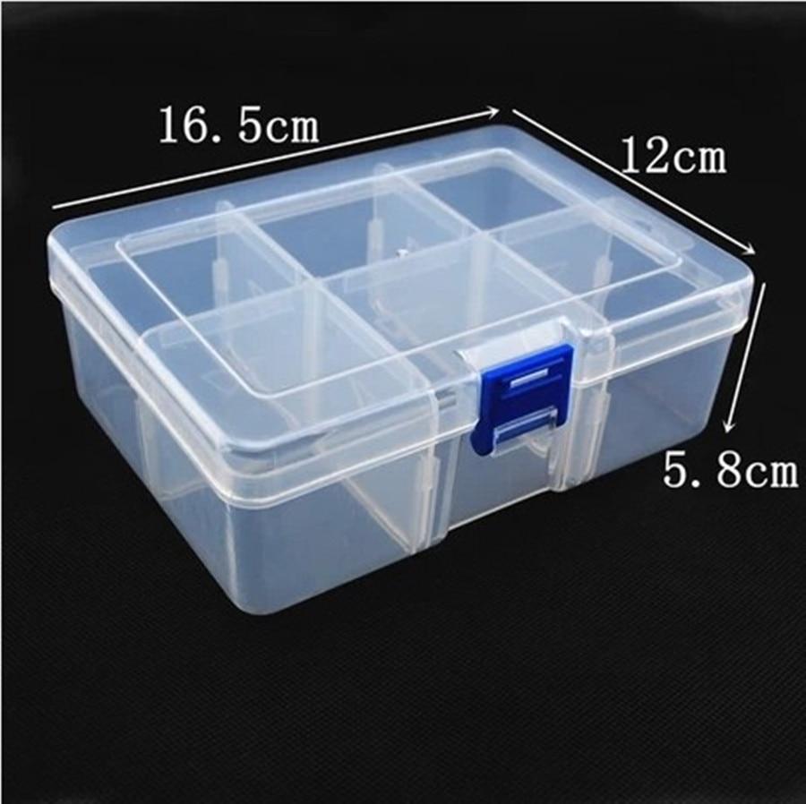 6 Grids 16cm Plastic Detachable Storage Boxes Bins Tools/Jewelry/Screw/Diamond/Miniature Toy Desk Organizer Holder