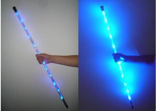 Canne dansante LED/rouge//bleu (pliant Deluxe)/Multicolr/tours de magie/magie de scène/accessoires de magie/produit magique