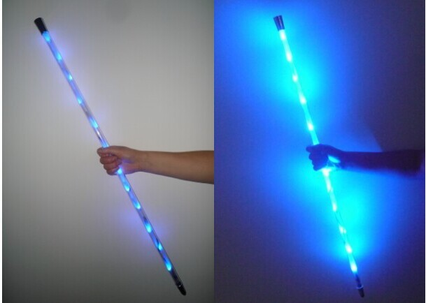 Dancing Cane LED Redblue Folding DeluxeMulticolr Magic TricksStage MagicMagic Props
