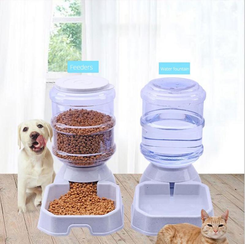 3.8L Pet Cão Alimentador Automático de Dispensador de Água Potável Gato Gato Gato Grande Capacidade de Alimentação Animal de Estimação Gato Tigela Bacia Do Cão