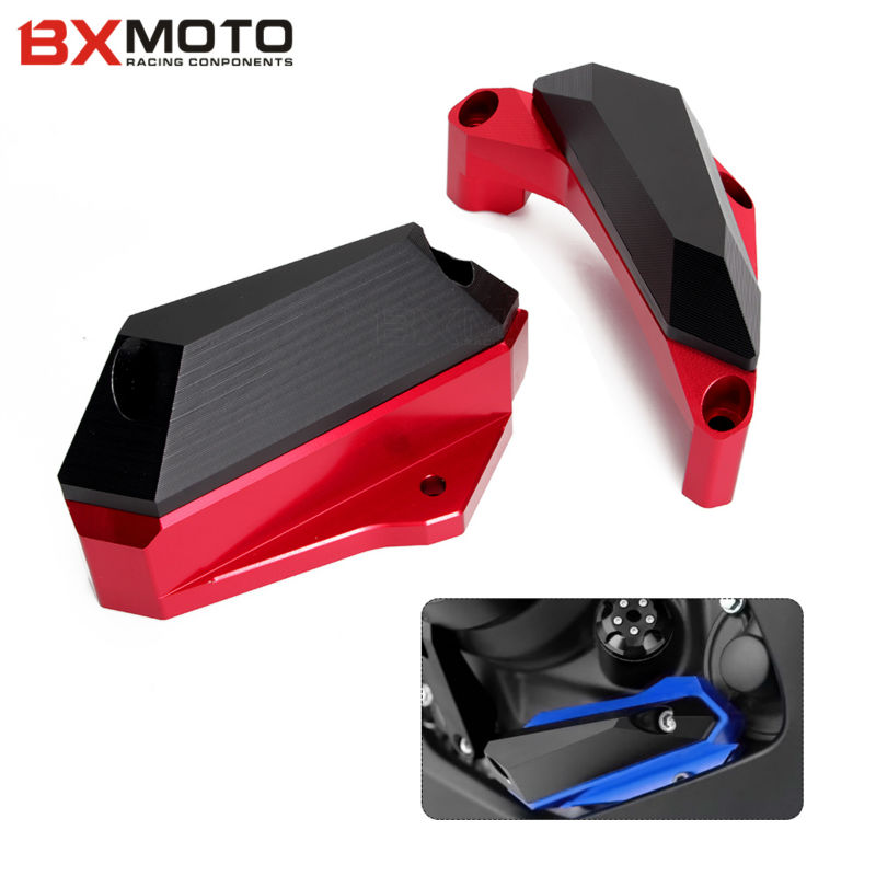 Motorcycle CNC Aluminum Stator Crash Pad Frame Slider Guard Cover Protector For Yamaha YZF R25 2013 2014 2015 YZF R3 2015 2016 for yamaha yzf r25 yzf r25 2013 2015 yzf r3 yzf r3 2015 2016 motorcycle frame slider engine stator case guard cover protector