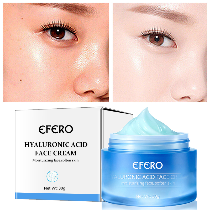 EFERO Day Creams Hyaluronic Acid Argireline Face Cream Anti-Aging Winkles Moisturizing Acne Treatment Skin Care Face Cream TSLM1