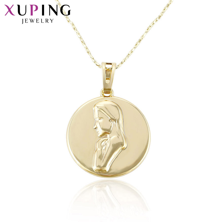 11.11 Deals Xuping Elegant Simple Charm Style Necklace Pendant for Women Girls Jewelry Black Friday Gifts S111,2-32736