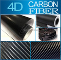 "Carbon Fiber Vinyl Black 4D 30x152CM 11.8""x60"" 4D Colored Glossy Carbon Fiber Vinyl Film Auto Wrapping Vinyl Wrap Foil"